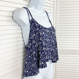 Forever 21 Racerback Cropped Swing Tank Size M